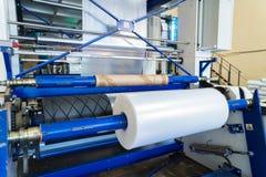 Rayez pour la production des sacs de polyéthylène ou de polypropylène photographie stock libre de droits