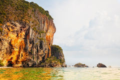 Rayleigh's beach in the province Krabi Royalty Free Stock Images