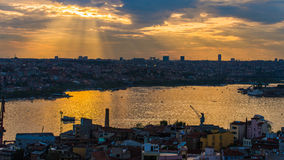 Raylight over Istanbul Stock Photography
