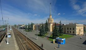 Raylway station in Petrozavodsk. 
