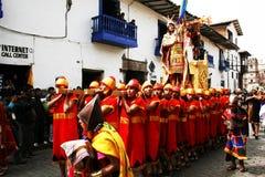Raymi do Inti. O rei dos incas foto de stock royalty free