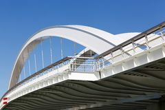 Raymond barre bridge in Lyon Stock Image