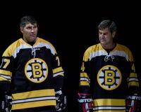 Raymond Bourque and Bobby Orr. Stock Photo