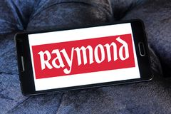 Raymond Group logo. Logo of Raymond Group on samsung mobile. Raymond Group is an Indian branded fabric and fashion retailer. It produces suiting fabric, with a Royalty Free Stock Image