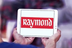 Raymond Group logo. Logo of Raymond Group on samsung tablet. Raymond Group is an Indian branded fabric and fashion retailer. It produces suiting fabric, with a Stock Photos