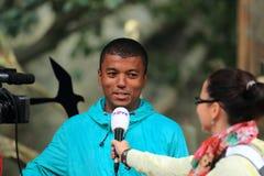 Rayo checo Koranteng del presentador de la TV Foto de archivo