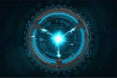 Rayo con vector del concepto de la tecnología stock de ilustración