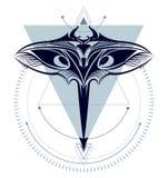 Rayo de Manta geométrico stock de ilustración