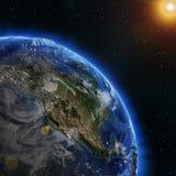 Rayo del sol de Norteamérica ilustración del vector