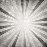 Rayo gris del sol naciente o del sol del vintage ilustración del vector