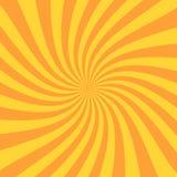 Rayo retro del resplandor solar en estilo del vintage Efecto espiral Fondo abstracto del cómic ilustración del vector