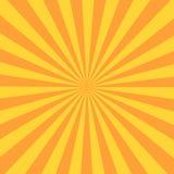 Rayo retro del resplandor solar en estilo del vintage Fondo abstracto del cómic ilustración del vector