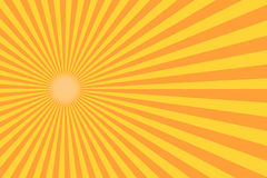 Rayo retro del resplandor solar en estilo del vintage Fondo abstracto del cómic libre illustration
