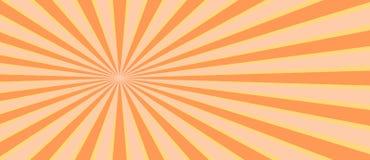 Rayo retro del resplandor solar en estilo del vintage Fondo abstracto del c?mic stock de ilustración
