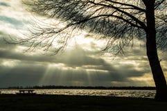 Rayo solar Imagen de archivo libre de regalías