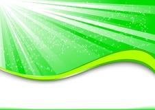 Rayo verde Stock de ilustración