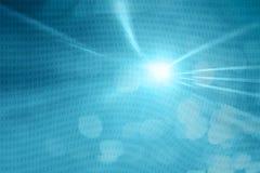 Rayon de lumière abstrait avec le code binaire illustration stock