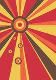 Rayon de soleil abstrait avec des cercles illustration de vecteur