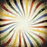 Rayon de soleil de grunge de Swirly Photographie stock libre de droits