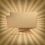 Rayon de soleil de vintage avec l'origami Image stock