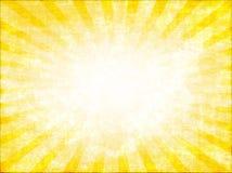 Rayon de soleil jaune Image libre de droits