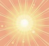 Rayon de soleil, rétro fond de rayon Image stock