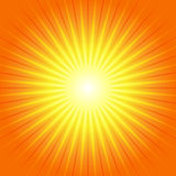 Rayon de soleil Ray Background jaune-orange Illustration Libre de Droits