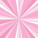 Rayon de soleil rose Photographie stock libre de droits