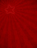 Rayon de soleil rouge d'étoile Image stock