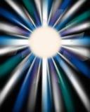Rayon de soleil sautant d'arc-en-ciel d'oeil Photo libre de droits
