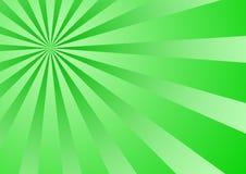 Rayon de soleil vert de gradient Photo libre de droits