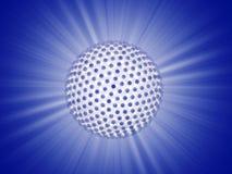 Rayon de sphère de lumières Photographie stock
