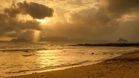 Rayon de Sun en mer Photographie stock libre de droits