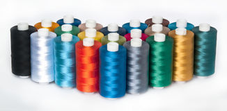 Rayon Embroidery Thread. Color Rayon Embroidery Thread with white background Royalty Free Stock Photos