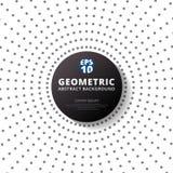 Rayon tramé gris abstrait de modèle de points de couleur avec le circ noir Photos stock