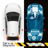 Rayon X diagnostique de voiture plein Image libre de droits