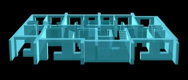 Rayon X Plancher modèle de résidence Images stock
