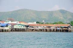 Rayong Sattahip, Thailand: Huisverblijf in de baai. stock fotografie