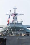 Rayong, Thaïlande 26 avril 2017 : HTMS Chakri Naruebet le navire amiral Photo libre de droits