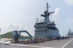 Rayong, Thaïlande 26 avril 2017 : HTMS Chakri Naruebet le navire amiral Image libre de droits