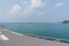 Rayong, Thaïlande 26 avril 2017 : HTMS Chakri Naruebet le navire amiral Photos stock