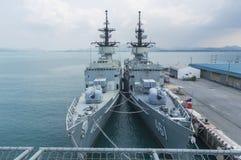 Rayong, Thaïlande 26 avril 2017 : HTMS Chakri Naruebet le navire amiral Photo stock