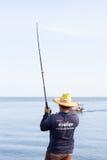 RAYONG THAILAND - December 12, 2015: Manbruksfiske Pole för f Royaltyfri Fotografi