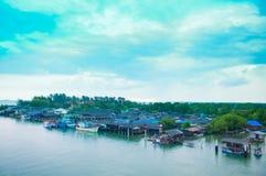 RAYONG , THAILAND- OCTOBER 18 2014 : Habitation of fisherman at Stock Photos