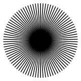 Rayonnant, lignes radiales Starburst, forme de rayon de soleil Ray, Li de faisceau illustration libre de droits