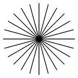 Rayonnant, lignes radiales Starburst, forme de rayon de soleil Ray, Li de faisceau illustration stock
