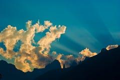 Rayonne la montagne Photos libres de droits