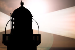rayonne le phare Images stock