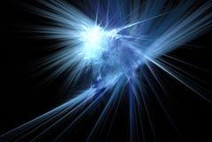 Rayonnement bleu illustration de vecteur