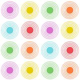 Rayonnement des cercles colorés illustration stock